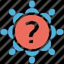 seo services, social media, support, team, web designer icon