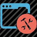 maintenance, seo services, social media, web designer, website icon