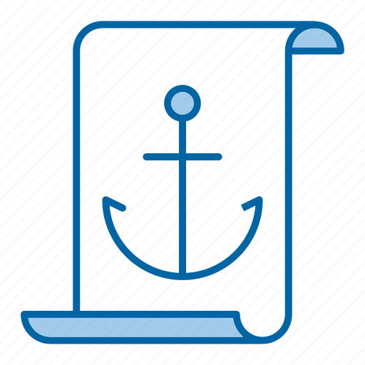 anchor, article, document icon