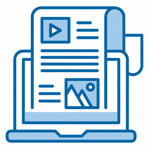 blog, content, feed, seo, website icon