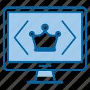 clean, code, monitor, programmation icon