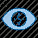 cost, impression, marketing, per, view icon
