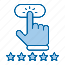 click, customer, rating, review icon
