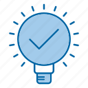 approved, creative, efficiency, idea icon