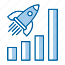 efficiently, fast, marketing, report, speed icon