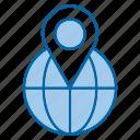 geo, globe, location, pin, targeting icon