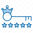 key, keyword, king, ranking, stars icon