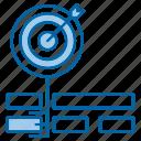 focus, goal, keywords, target, web icon