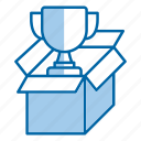 package, prize, reward, seo, trophy icon