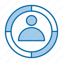 audience, focus, goal, target icon