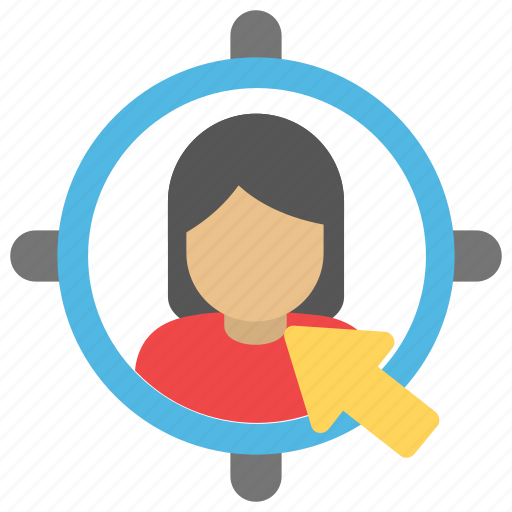 direct marketing, market segmentation, target advertising, target audience, target market icon
