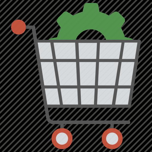 e-commerce solution, ecommerce optimization service, ecommerce seo service, shopping cart gear, technical seo icon