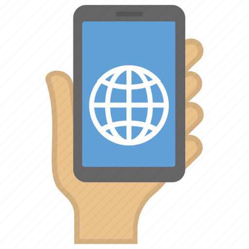 hand holding smartphone, mobile communication, mobile phone usage, mobile phone user, smartphone usage icon