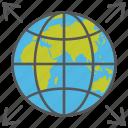 communication network, global network, grid globe, satellite, technology-based network