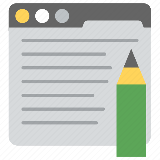 article writing, blog writing, content writing, creative writing, website content writing icon