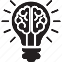 bright idea, creative brain, creative idea, creativity, human intelligence icon