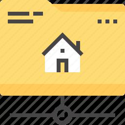 data, domain, file, folder, home, hosting, network icon