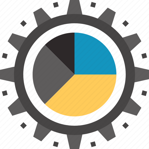 chart, configuration, data, gear, graph, management, settings icon