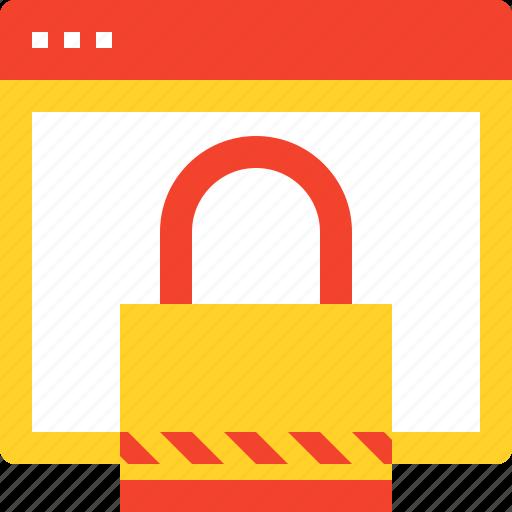 account, identity, login, padlock, protection, security, web icon