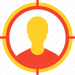 advertising, audience, goal, marketing, seo, social, target icon