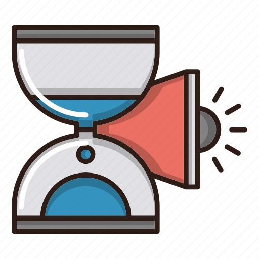 advertise, campaign, hourglass, timing icon