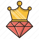 crown, high, quality, seo, top icon