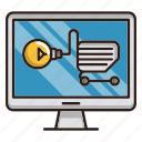 ecommerce, idea, market, online, seo, solution, store icon