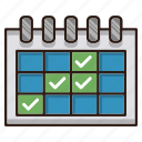 calendar, events, reminder icon