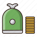 cash, income, money, seo icon
