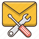 email, mail, seo, support icon