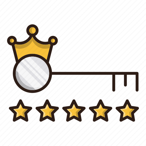 five stars, key, keyword, ranking, seo icon