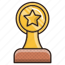 prize, seo, star, trophy, victory, winner icon