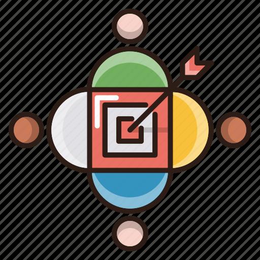 arrow, audience, focus, goal, seo, target icon