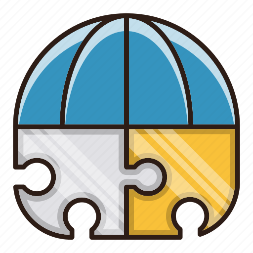 global, puzzle, seo, solution icon