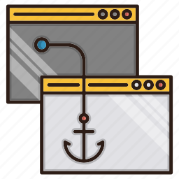 backlinks, chain, seo, url icon