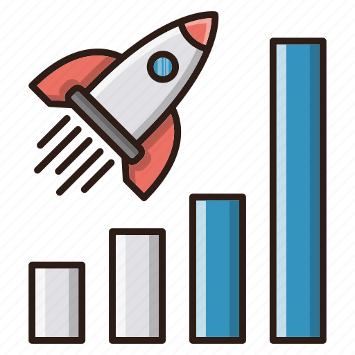 chart, efficiently, report, seo icon