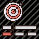 goal, key, keywords, seo, target icon