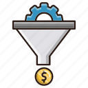 conversion, funnel, money, sales, seo icon