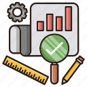 audit, chart, data, report, seo icon