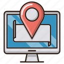 local, location, map, online, seo icon