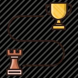 seo, strategy, victory, winner icon