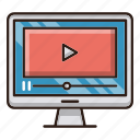 marketing, seo, tutorial, video icon