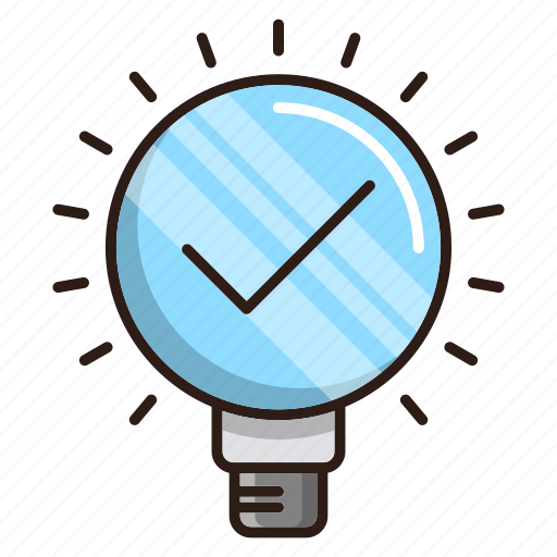 approved, efficiency, idea, seo icon