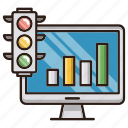 growth, online, report, seo, traffic icon