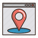 local, location, page, seo icon