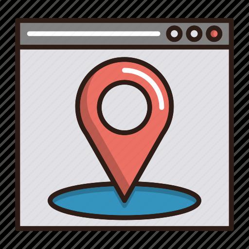 local, location, page, seo icon