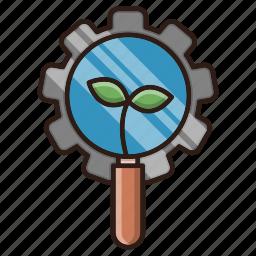 cog, gear, organic, search, seo icon