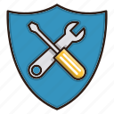 security, seo, shield, tools icon