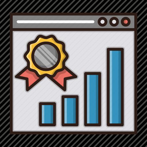 best, chart, ranking, seo, website icon