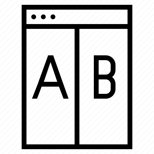 ab testing, landing page, landing page testing, split testing, testing icon